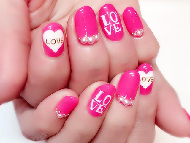 LOVEパワー全開ネイル!